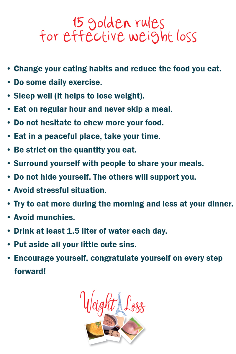 golden rules for efficient weight-loss